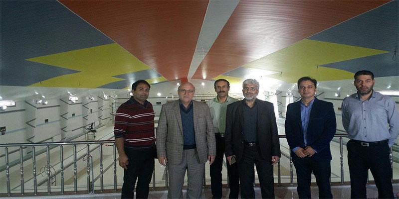 بازدید پروفسور رجبی (ریاست دانشگاه شمس گنبد) از مجموعه ورزشی راه آهن شاهرود