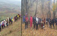 کوه پیمایی و کوه نوردی جمعی از دانشجویان