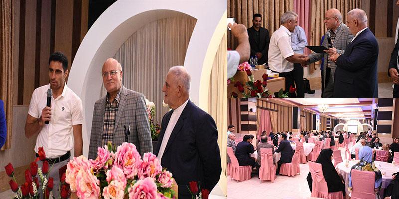 مراسم تقدیر از خبر نگاران و نخبگان ورزشی باحضور ریاست محترم دانشگاه