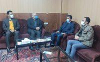 دیدار حجت الله یوسفی رئیس اداره ورزش و جوانان شهرستان گنبدکاووس با پروفسور رجبی رئیس دانشگاه شمس
