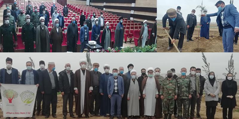 درختکاری در دانشگاه شمس با حضور مقامات استان و شهرستان